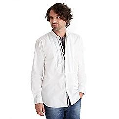 Joe Browns - White unique grandad shirt