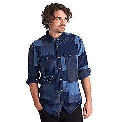 Joe Browns - Blue perfect patchwork denim shirt