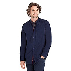 Joe Browns - Dark blue double layer grandad shirt