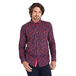 Joe Browns - Purple double collar paisley shirt