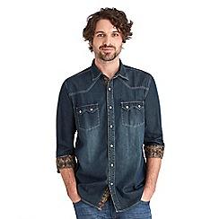 Joe Browns - Blue biker denim shirt