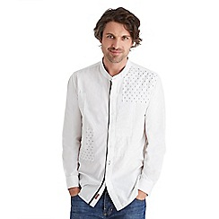 Joe Browns - White mix it up grandad shirt