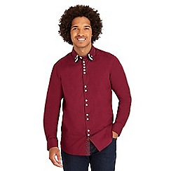 Joe Browns - Dark red triple collar shirt