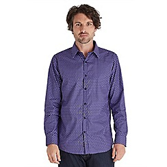 Joe Browns - Purple retro print shirt