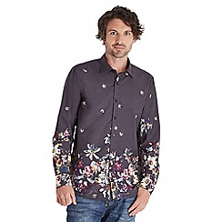 Joe Browns - Black border print floral shirt