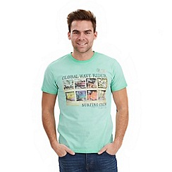 Joe Browns - Pale green global wave t-shirt