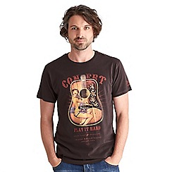 Joe Browns - Dark brown pin up acoustic t-shirt