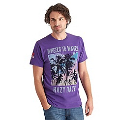 Joe Browns - Purple wheels to waves t-shirt