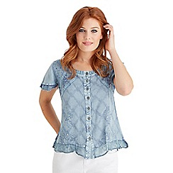 Joe Browns - Light blue effortlessly elegant blouse