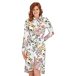 Joe Browns - Multi coloured longline floral blouse