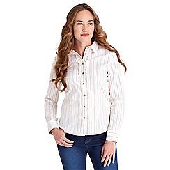Joe Browns - White perfect pinstripe shirt