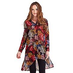 Joe Browns - Multi coloured colours of autumn longline blouse