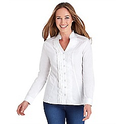 Joe Browns - White ruffle blouse