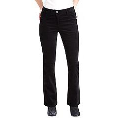 Joe Browns - Black bootcut velvet trousers