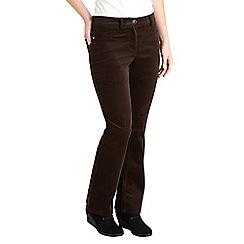 Joe Browns - Chocolate bootcut velvet trousers
