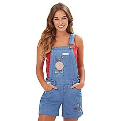 Joe Browns - Mid blue funky embroidered dungarees