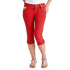 Joe Browns - Red cherrylicious capri trousers