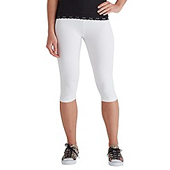 Joe Browns - White cropped summer leggings