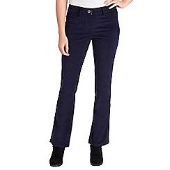 Joe Browns - Navy bootcut velvet trousers