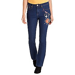 Joe Browns - Dark blue funky embroidered jeans
