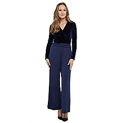 Joe Browns - Navy sophisticated velvet jumpsuit