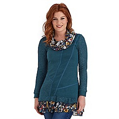 Joe Browns - Dark turquoise nepalese tunic