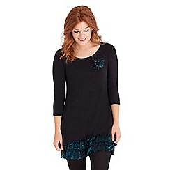 Joe Browns - Black flirty festive tunic