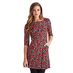 Joe Browns - Multi coloured red roses tunic