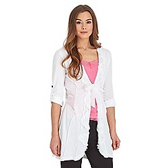 Joe Browns - White ruffle me up tunic