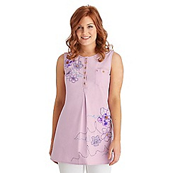 Joe Browns - Lilac lovely applique tunic