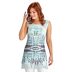 Joe Browns - Turquoise funky fringed tunic