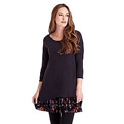 Joe Browns - Purple flirty velvet tunic