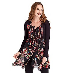 Joe Browns - Multi coloured romantic rose tunic
