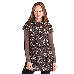 Joe Browns - Brown jazzy jacquard tunic
