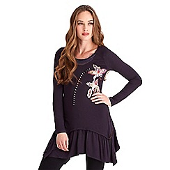 Joe Browns - Purple sophisticated embroidered tunic
