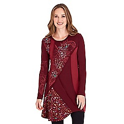 Joe Browns - Dark red creative applique tunic