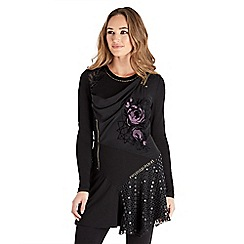 Joe Browns - Black luxury tunic top