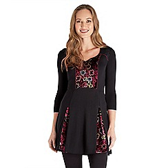 Joe Browns - Black perfect velvet tunic top