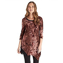 Joe Browns - Brown distinctive flocked tunic top
