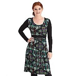 Joe Browns - Multi coloured flattering forest dress