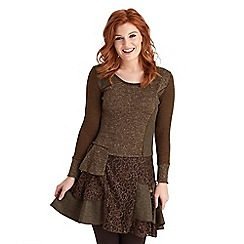 Joe Browns - Chocolate stunning mix it up dress
