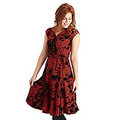 Joe Browns - Red pretty phenomenal flocked dress