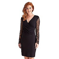 Joe Browns - Black wonderful lace sleeve wrap dress