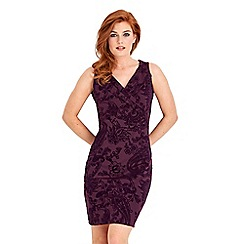 Joe Browns - Purple fabulous flocked festive dress