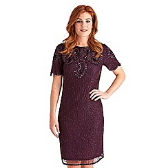 Joe Browns - Plum vamp vintage beaded dress