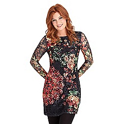 Joe Browns - Multi coloured bright lace floral dress