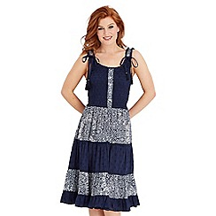 Joe Browns - Navy perfect paisley dress