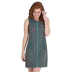 Joe Browns - Dark turquoise quietly quirky zip through dress