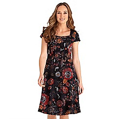 Joe Browns - Multicoloured floral print 'Effortlessly Sexy' v-neck knee length dress