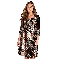 Joe Browns - Multicoloured printed cotton blend 'Gorgeous Vintage' v-neck knee length tea dress